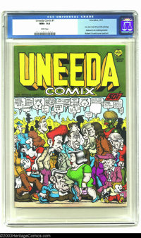 Uneeda Comix #1 (Print Mint, 1971) CGC NM+ 9.6 White pages. With a Robert Crumb cover and art, this is an all-Crumb publ...