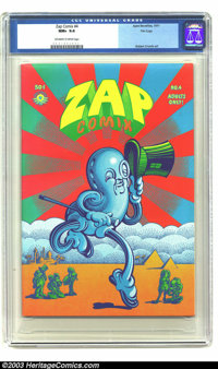 Zap Comix #4 File Copy (Apex Novelties, 1969) CGC NM+ 9.6 Off-white to white pages. A wonderful wraparound cover by Vict...