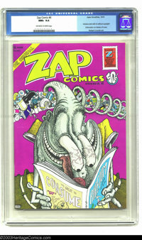 Zap Comix #6 (Apex Novelties, 1973) CGC NM+ 9.6 Off-white to white pages. Here's a beautiful copy of this first printing...