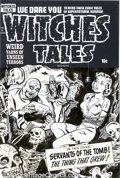 Original Comic Art:Covers, Al Avison - Original Cover Art for Witches Tales #6 (Harvey, 1951).You can almost hear the bricks being layed into place as...