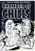 Original Comic Art:Covers, Al Avison - Original Cover Art for Chamber of Chills #22 (Harvey,1951). A busty beauty in bondage is kept under glass ready...