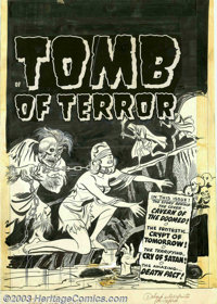 Unknown Artist - Original Cover Art for Tomb of Terror #3 (Harvey, 1952). An amazingly horrific bondage cover from this...
