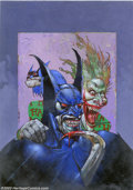 Original Comic Art:Covers, Simon Bisley - Original Cover Art for Batman/Lobo #1 (DC, 2000). From the insanely twisted brain of Simon Bisley comes this ...