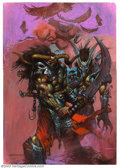 Original Comic Art:Paintings, Simon Bisley - Original Acrylic Paintings (1992). Bisley's rise in popularity mirrors society's fascination with the extreme...