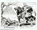 Original Comic Art:Splash Pages, John Buscema - Original Splash Page Art for The Amazing Spider-Man(V2) Annual, pages 11 and 12 (Marvel, 1999). One of Marve...
