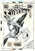 Original Comic Art:Covers, Nick Cardy - Original Cover Art for Superman #260 (DC, 1973). TheKeeper of the Eternal Flame, Valdemar, tosses his flaming ...