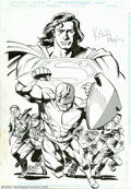 Original Comic Art:Splash Pages, Kieron Dwyer and Karl Kesel - Original Poster Art for Guardians ofMetropolis (DC, 1999). This art featuring Superman, the G...