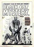 Original Comic Art:Covers, Lee Elias - Original Cover Art for Black Cat Mystery #33 (Harvey, 1952). While EC is the undisputed leader in pre-Code horro...