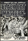 Original Comic Art:Covers, Lee Elias - Original Cover Art for Black Cat Mystery #38 (Harvey,1952). Of all the artists in Harvey's stable, it was Lee E...
