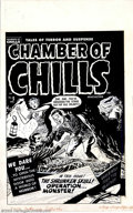 Original Comic Art:Covers, Lee Elias - Original Cover Art for Chamber of Chills #5 (Harvey,1952). When it comes to original artwork, nothing is more d...