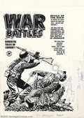 Original Comic Art:Covers, Lee Elias - Original Cover Art for War Battles #1 (Harvey, 1952).Trust Lee Elias to produce a powerful image any time he wa...