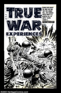 Original Comic Art:Covers, Lee Elias - Original Cover Art for True War Experiences #4 (Harvey,1952). Lee Elias was known for his explosive covers and ...