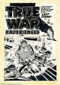 Original Comic Art:Covers, Lee Elias - Original Cover Art for True War Experiences #5 (Harvey,1952). Here we have an anomaly. In The Overstreet Pric...