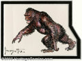Original Comic Art:Sketches, Frank Frazetta - Original Art Sketch of a Gorilla (Undated). Frazetta, while known for his fantasy work and voluptuous women...