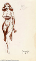 "Original Comic Art:Sketches, Frank Frazetta - Original Art Sketch ""Femme Fatale"" (Undated). When it comes to voluptuous women absolutely nobody can top F..."