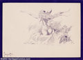 Original Comic Art:Sketches, Frank Frazetta - Original Illustration, Awakening (undated). One of the first things that strikes you when you look at a Fra...