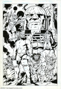 Original Comic Art:Splash Pages, Keith Giffen - Original Pin-Up, Darkseid and Minions (DC, 1985).Most likely done to tie in with the Super Powers Action Fig...