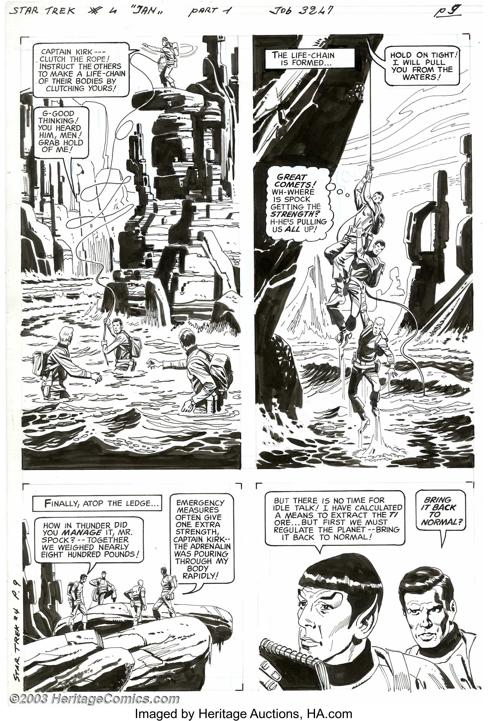 Alberto Giolitti And Giovanni Ticci Original Art For Star Trek 4 Lot 5235 Heritage Auctions
