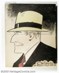 Original Comic Art:Sketches, Chester Gould - Original Illustration of Dick Tracy (undated). A truly rare find for any fan of Dick Tracy or Chester Gould,...