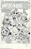 Original Comic Art:Splash Pages, Don Heck - Original Art for Not Brand Ecch #2, page 1 (Marvel,1967). It's the Mighty Magnut, Robot Biter in this scintillat...