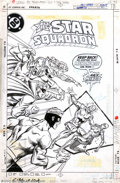 Original Comic Art:Covers, Arvell Jones and Tony DeZuniga - Original Cover Art for All-StarSquadron #58 (DC, 1986). No matter what Mekanique has done....
