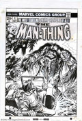 Original Comic Art:Covers, Gil Kane and Tom Palmer - Original Cover Art for Man-Thing #4 (Marvel, 1974). Jeep headlights blare on the sodden visage of ...