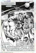Original Comic Art:Splash Pages, Rafael Kayanan and Alfredo Alcala - Original Art for America vs.the Justice Society #1, page 27 (DC, 1985). The Robin of Ea...