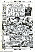 Original Comic Art:Covers, Jack Kirby - Original Cover Art for Marvel Super-Heroes #27(Marvel, 1970). As the Incredible Hulk battles the Lethal Leader...