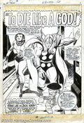 """Original Comic Art:Complete Story, Jack Kirby and Vince Colletta - Original Art for The Mighty Thor #139, Complete 16-page Story """"To Die Like a God!"""" (Marvel, 19..."""