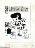 Original Comic Art:Covers, Warren Kremer - Original Cover Art for Little Dot #1 (Harvey,1953). She was cute as a button and sweet as a peach, but let'...
