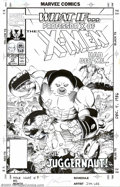Original Comic Art:Covers, Jim Lee - Original Cover Art for What If? #13 (Marvel, 1990). Whatif Professor X of the X-Men had become... the Juggernaut?...