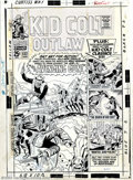 Original Comic Art:Covers, Larry Lieber - Original Cover Art for Kid Colt Outlaw #132 (Marvel,1967). One of the hardiest factions of collectors around...