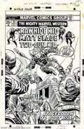 Original Comic Art:Covers, Larry Lieber and Frank Giacoia - Original Cover Art for The MightyMarvel Western #34 (Marvel, 1974). The Rawhide Kid gives ...