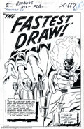 """Silver Age (1956-1969):Western, Larry Lieber - Original Art For Rawhide Kid #40, Complete 10-pageStory, """"The Fastest Draw!"""" (Marvel, 1964). If you are in t..."""
