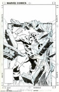 Original Comic Art:Splash Pages, Larry Lieber - Original Illustration of Captain America (Marvel, undated). We're not sure exactly where this piece first app...