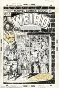 """Original Comic Art:Covers, Larry Lieber - Original Cover Art for Weird Wonder Tales #5(Marvel, 1974). What is """"The Thing in Cell 13""""? It seems that th..."""