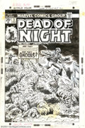 Original Comic Art:Covers, Larry Lieber and Al Milgrom - Original Cover Art for Dead of Night#5 (Marvel, 1974). Are they vampires? Are they ghouls? On...