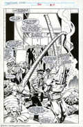 Original Comic Art:Splash Pages, Ron Lim and Mike DeCarlo - Original Art for Fantastic Four #336, page 15 (Marvel, 1990). The Armadillo, the Owl, Orka the Ki...