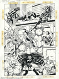 Original Comic Art:Sketches, Ron Lim and Terry Austin - Original Art for Marvel Universe, Series 4 Trading Card Set, Cards #55-63 (Skybox, 1993). This ey...
