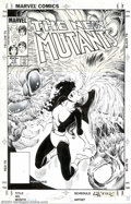 "Original Comic Art:Covers, Tom Mandrake - Original Cover Art for The New Mutants #15 (Marvel,1984). From The New Mutants #15 cover story, ""Scaredy..."