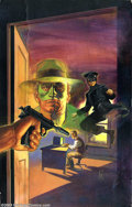 "Original Comic Art:Covers, Val Mayerik - Original Cover Art for Green Hornet (Vol. 2) #9 (Now,1992). ""He hunts the biggest of all game, public enemies..."
