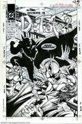 Original Comic Art:Covers, Shawn McManus - Original Cover Art for Dr. Fate #14 (DC, 1989).Kent Nelson, the original Dr. Fate, takes a dagger in the ch...