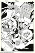 Original Comic Art:Splash Pages, Shawn McManus - Original Splash Page Art for Omega Men #33, page 3(DC, 1983). This a great image of the Omega Men which con...
