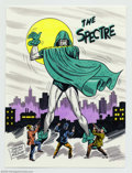 "Original Comic Art:Sketches, Sheldon Moldoff - Original Illustration, The Spectre (undated). Sheldon ""Shelly"" Moldoff helped define the Golden Age. He is..."