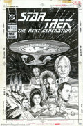 Original Comic Art:Covers, Jerome Moore - Original Cover Art for Star Trek: The NextGeneration #1 (DC, 1989). In this first issue of Star Trek: The ...