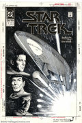 Original Comic Art:Covers, Jerome K. Moore - Original Cover Art for Star Trek #7 (DC, 1990). Abeautiful piece, with everything that a dyed-in-the-wool...