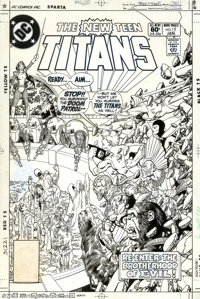 George Perez and Romeo Tanghal - Original Cover Art for The New Teen Titans #15 (DC, 1982). The Changeling, along with h...