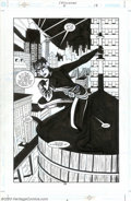 Original Comic Art:Splash Pages, Brad Rader and Cameron Stewart - Original Art for Catwoman #6, page18 (DC, 2002). This definitive image of the latest incar...