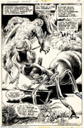 Original Comic Art:Splash Pages, Nestor Redondo - Original Splash Page Art for Swamp Thing #14 (DC,1975). The swamp creature formerly known as Alec Holland ...