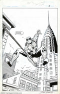 Original Comic Art:Splash Pages, John Romita Sr. - Original Art for Spider-Man Adventures #1, page 1 (Marvel, 1994). Many artists have drawn Spider-Man over ...
